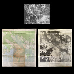 Rare Wwii 1944 And039hollandia Dromeand039 Japanese Airfield Double Sided Infantry Map