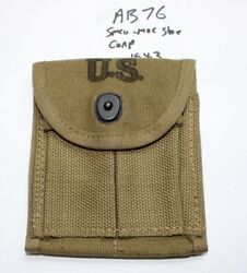 Wwii M1 Carbine Stock Pouch , Smco Moc Shoe Corp 1943 New Orig. Usgi -ab76
