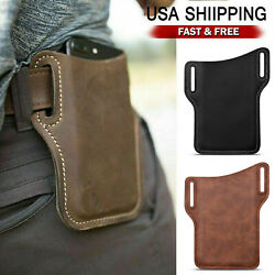 Cell Phone Waist Belt Holster Loop Holder Pack Bag Leather Pouch Case Cover USA $7.95