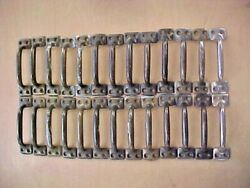 """26 Old Door Handle Sash Lift Drawer Pull Brass Plated 4"""" Vintage Usa Heavy Duty"""