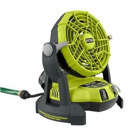 New Ryobi 18-volt One + Portable Bucket Top Misting Fan Tool Only