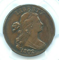 1802 S-236 Draped Bust Cent, Pcgs Xf Details
