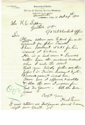Henry H. Heck Thomas - Autograph Letter Double Signed 10/24/1900
