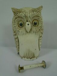 Owl Cast Metal Coin Piggy Bank Broke Sold For Parts / Repair Non-magnetic