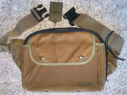 New With Tags Filson Tin Cloth Fly Fishing Pack Strap Bag In Dark Tan, Nwt