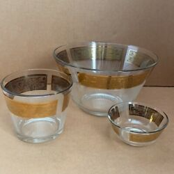 Htf 1960and039s Vintage Capri Of California Hollywood Regency Old Fashioned Bowls