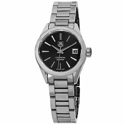 Tag Heuer Womenand039s War2410.ba0770 And039carreraand039 Black Dial