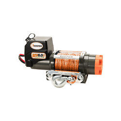Keeper 6,000 Pound Electric Winch 1.9 Horsepower 12 Volt Off Road Vehicle Used
