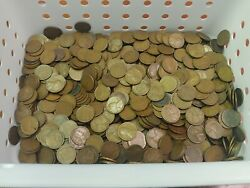Huge Lot Of 950, 1920's All S Mint Marked Lincoln Wheat Pennies Estate Find