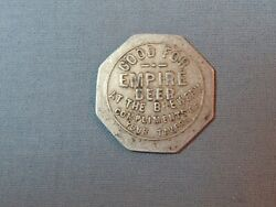 Rare Fond Du Lac, Wisconsin Empire Beer Brewery Good For Token