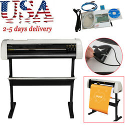 33 Inch Plotter Machine 850mm Paper Feed Vinyl Cutter Cutting With Stand Lcd Usa