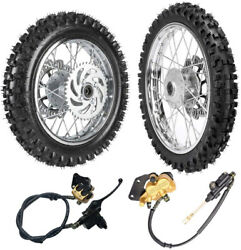 Front 60/100-14 And 80/100-12 Rear Wheel Tire Rim Assembly Dirt Pitbike Taotao Ssr