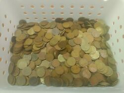 Huge Lot Of 867, 1910-1915 All P Mint Marked Lincoln Wheat Pennies Estate