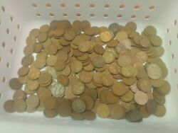 Huge Lot Of 293, 1930's All S And D Mint Marked Lincoln Wheat Pennies Estate