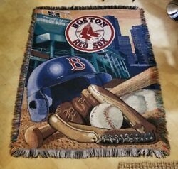 Boston Red Sox Throw Blanket 57 X 33 - Good Condition