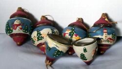 5 Trinket Box Style Christmas Ornaments Bulbs Each Opens 5 Different Scenes