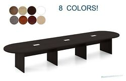 16 Ft Foot Racetrack Oval Conference Table Has Grommets For Wires Power 8 Colors