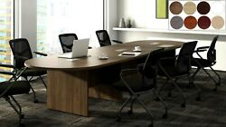 20 Ft Foot Racetrack Oval Conference Table Has Grommets For Wires Power 8 Colors