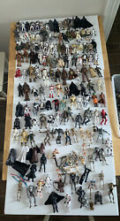 Huge Star Wars 150 Action Figures And Accessories Parts Lanterns Vechicle Lot
