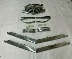 1949 Packard Chrome Grill Parking Lights Lens 11 Piece Complete Grille Front