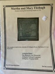 R And R Reproductions Martha And Mary Fitzhugh Genealogy Cross Stitch Chart Custis