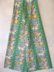 Rare Mary Quant Ginger Group English Vtg 1970and039s New Maxi Skirt 12 Green Floral