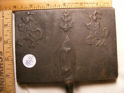 Circa 1800's Hessian Soldiers Waffle Iron About 4 1/4 X 6 X 24 Cast Iron