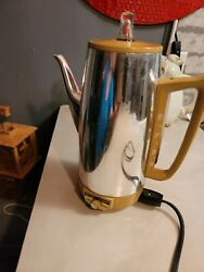 Vintage General Electric Emmersible Coffee Pot Percolator 10 Cup