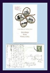 Colorado Yuma Multi View Posted 1911 To Miss Mary Wood, Pittsburgh, Pennsylvania