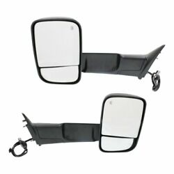 Power Fold Mirror Set For 2015 2018 Ram 2500 Left And Right Side Heated Puddle
