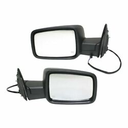 Power Mirror Set Of 2 For 2013-2018 Ram 1500 Heated Textured Black Manual Fold