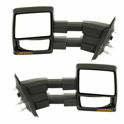 Tow Mirror Set For 2009 2014 Ford F150 Left And Right Side Power Heat Extend