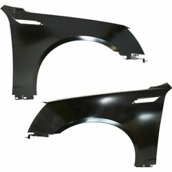 Fender Set For 2008-2015 Cadillac Cts Front Primed Steel W/fender Vent Hole Pair
