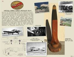 Ww2 ✨ Hartzell Bamboo Bomber ✨ Wood Airplane Propeller Blade Wooden Prop Relic