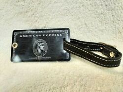 American Express Centurion Black Card Holders Limited Baggage Tag With Magazine