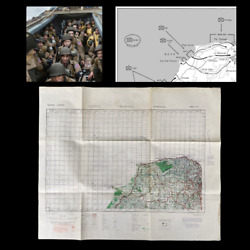 Wwii D-day Operation Touch Beer Beach 168th Infantry Amphibious Invasion Map