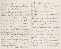 Joshua Lawrence Chamberlain - Autograph Letter Double Signed 08/19/1894