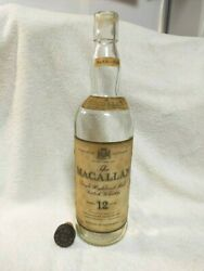 Macallan12 Years Vintage Old Type Empty Bottle Scotch Whiskey With Cork