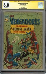 Avengers 11 Cgc 6.0 Fn Signed Stan Lee Early Spider-man App Mexican Edition