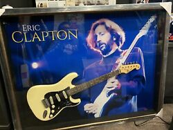 Eric Clapton Signed And Framed Guitar With Coa. The Real Deal Inspection Invited
