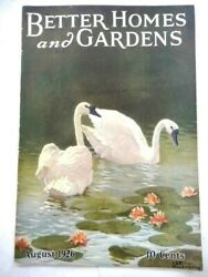1926 Aug Antique Better Homes And Gardens Magazine Vgc Willenborg Cover Art Plan