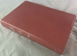 Unused Vintage Leather Rose Color Oxford Niv Scofield Study Bible Red Letter