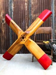 ✨extra Large Test Club Wood Propeller✨ Airplane Wooden Prop Aircraft Decor 👀