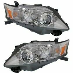 Headlight Set For 2010-2013 Lexus Rx350 Left And Right Hid With Bulb 2pc