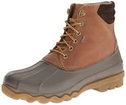 Sperry Mens Avenue Leather Cap Toe Ankle Safety Boots Tan/brown Size 12.0 Mlcm