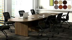 28 Ft Foot Racetrack Oval Conference Table Has Grommets For Wires Power 8 Colors
