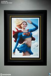 Supergirl Sideshow Collectibles Framed And Signed Art Print By Artgerm Rare