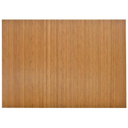 Office Chair Mat 48 In. X 72 In. Non-slip Gripper Machine-made Moso Bamboo Brown