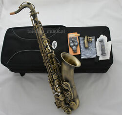Weibster Antique Bronze Tenor Saxophone Bb High F Wts-670ag Sax With Case