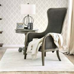 Furniture Of America Lysa Rustic Grey Wingback Accent Chair Grey N/a
